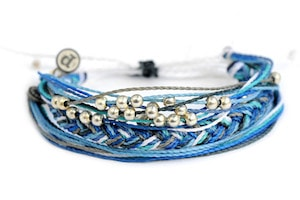 Outdoorsy gifts that give back: Pura Vida 1% for the planet bracelet