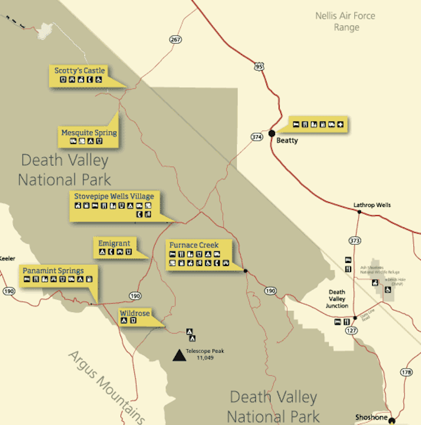 Death Valley Map // Experience the best of Death Valley National Park with this 3-day Death Valley itinerary and tips for your road trip.