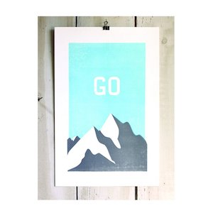 Outdoorsy gifts that give back: Western Rise Go Outside Print