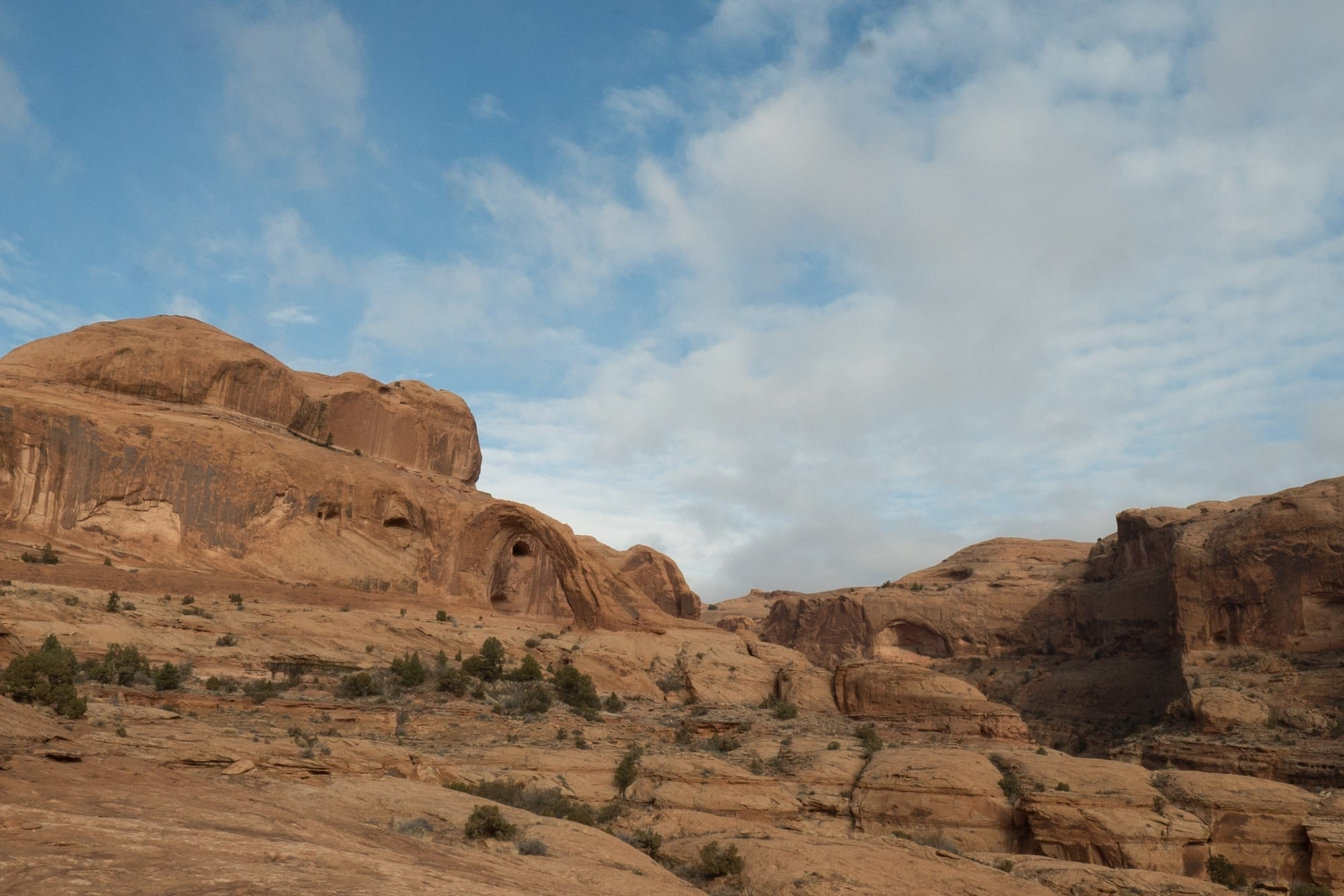 The Corona Arch trail is an awesome short, dog-friendly hike right outside Moab leading to a huge arch. Get the full guide here.