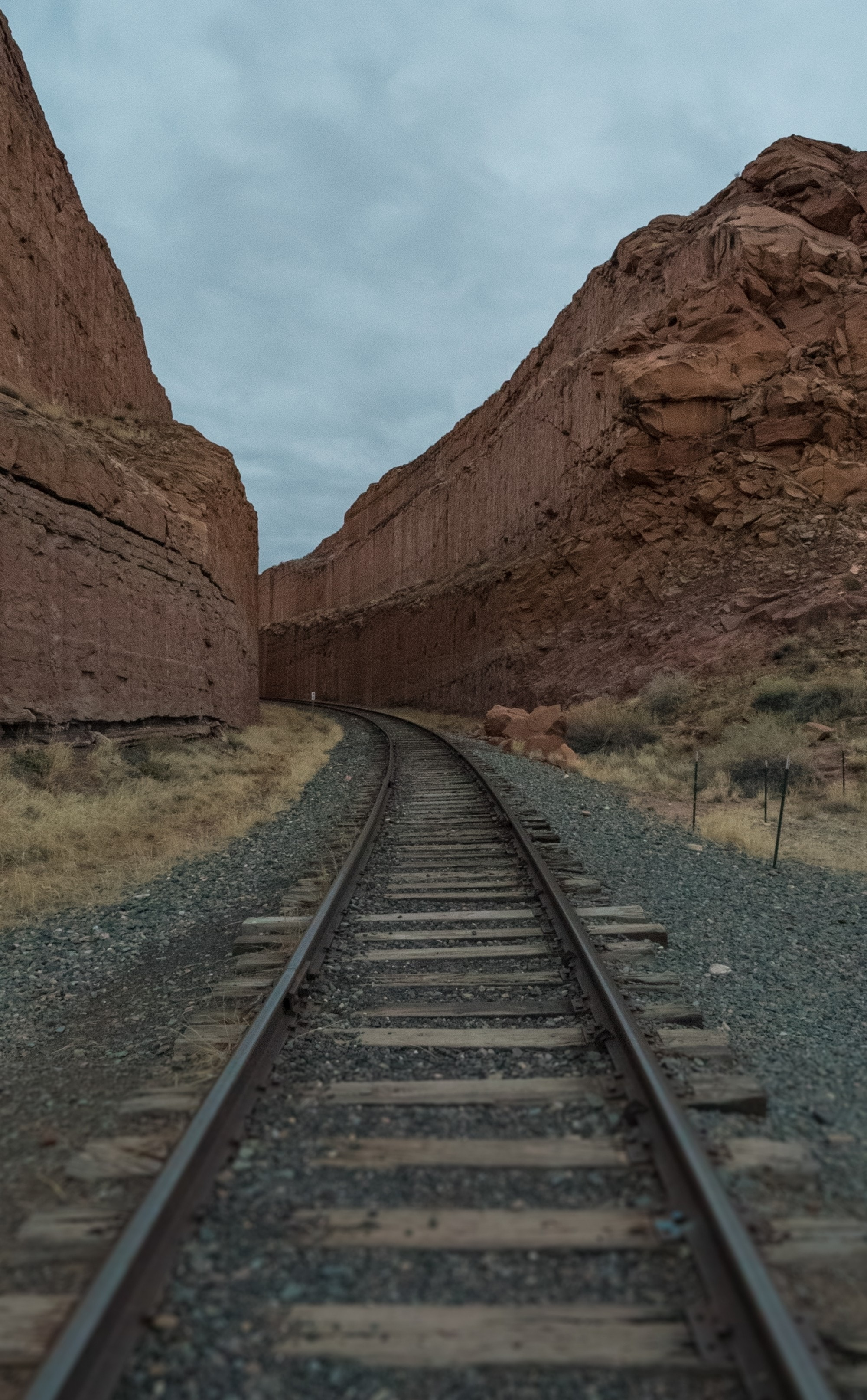 Railroad tracks at the Corona Arch Trail // See the full trail guide here