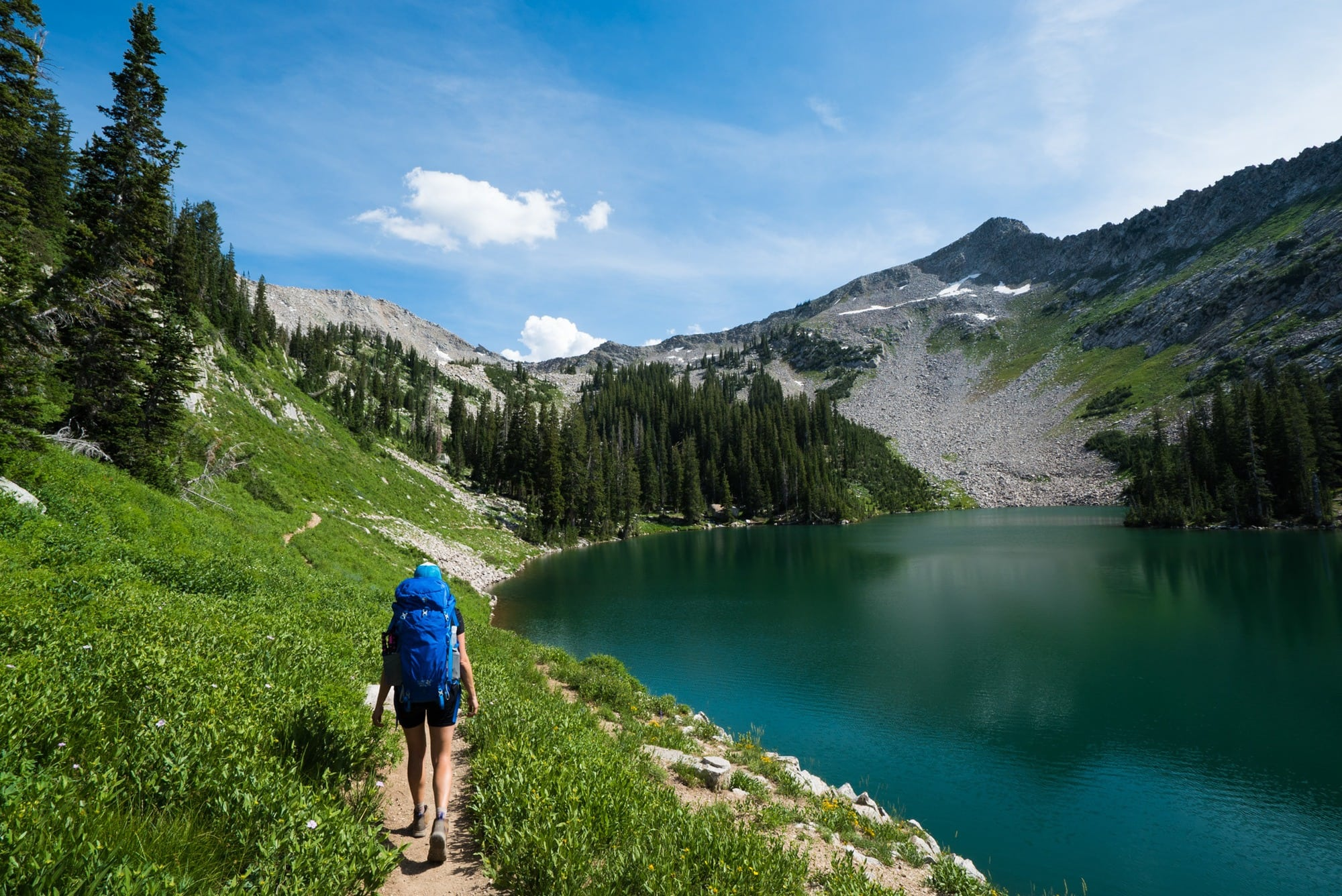 Red Pine Lake // Learn about 12 of the best Salt Lake City hikes from alpine lakes to peaks to waterfalls including trail stats and trailhead info.