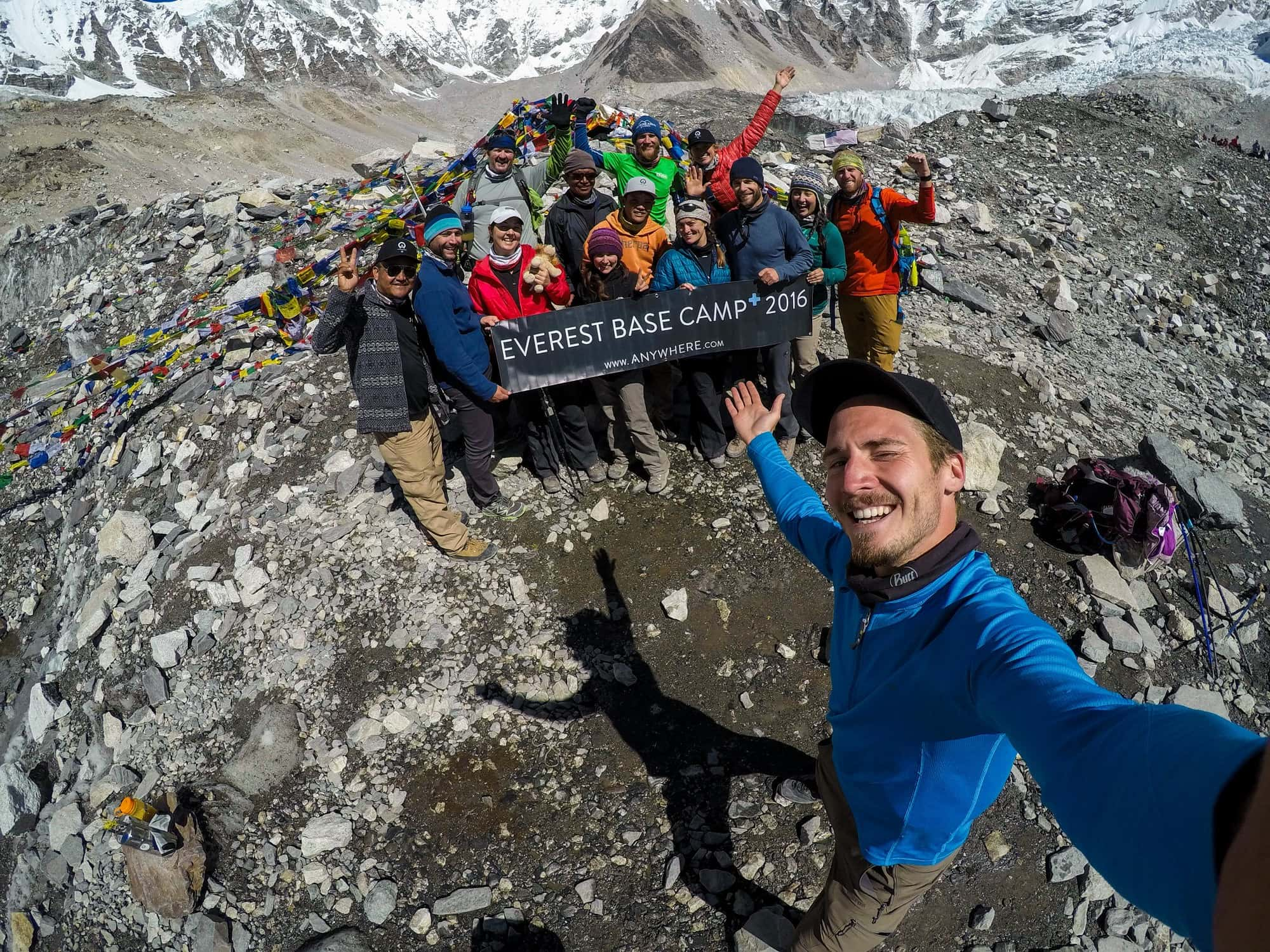 Kristen's Everest Base Camp Trek group // Learn how to increase your lung capacity for hiking so you can hike higher & farther without running out of breath, even at high elevation.