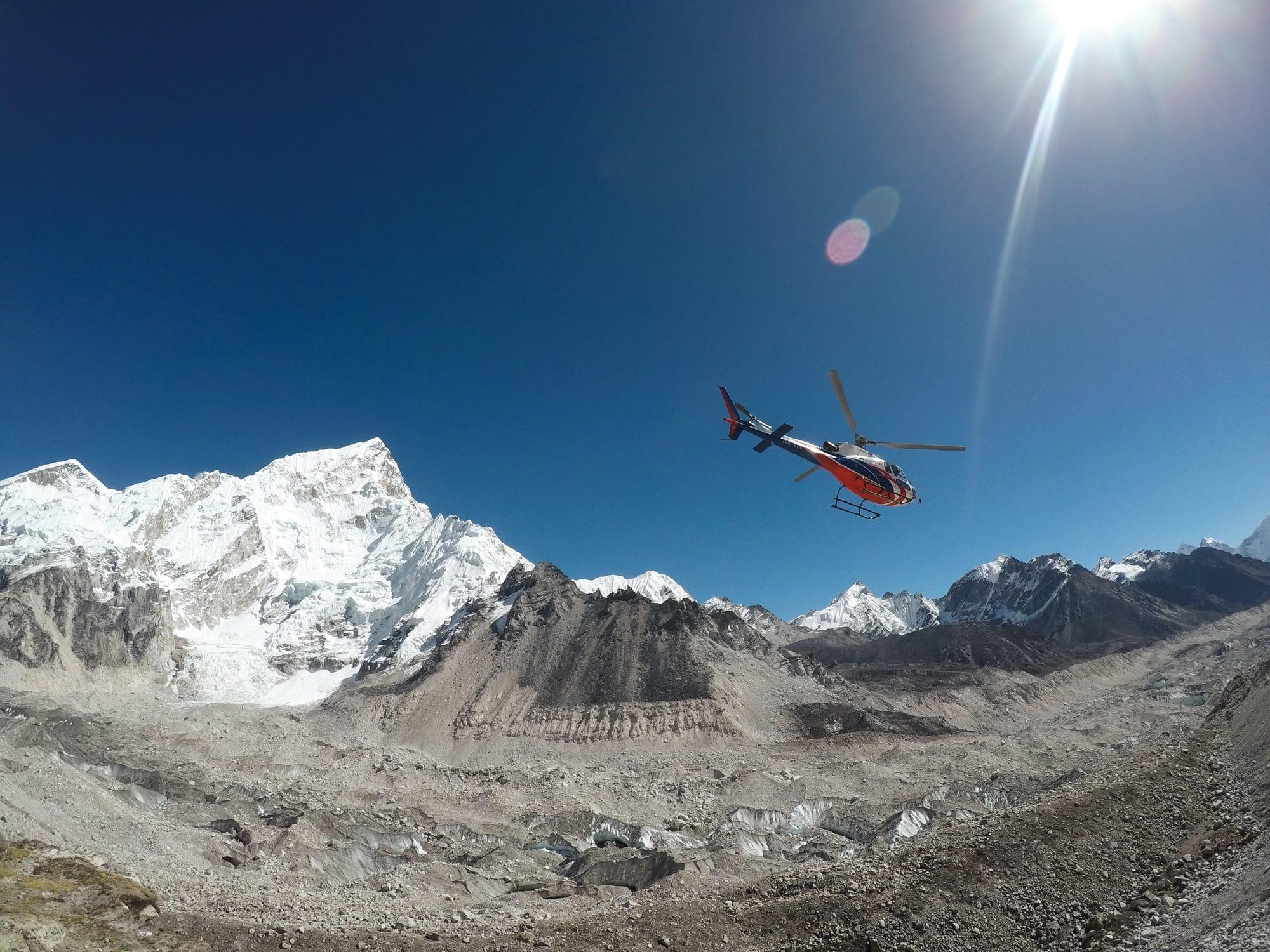 Everest Basecamp Trek - Helicopter flight back to Lukla