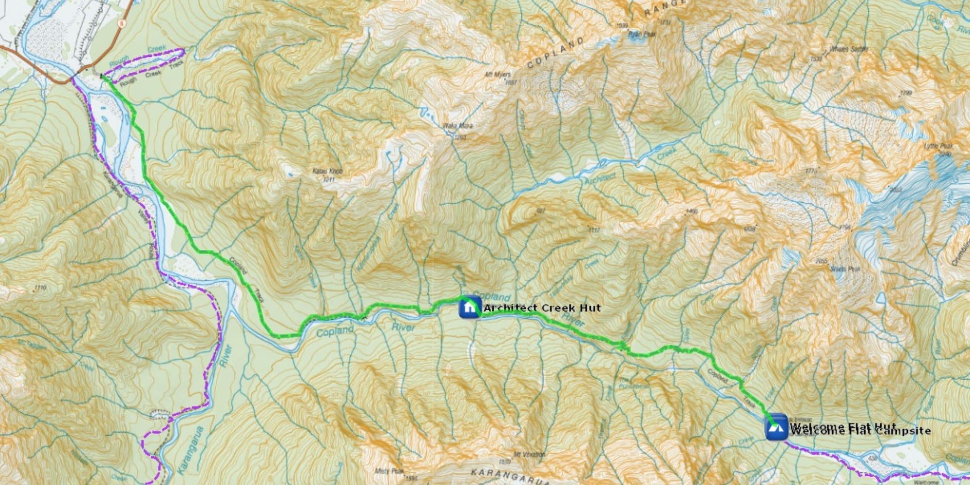 Copland Track map
