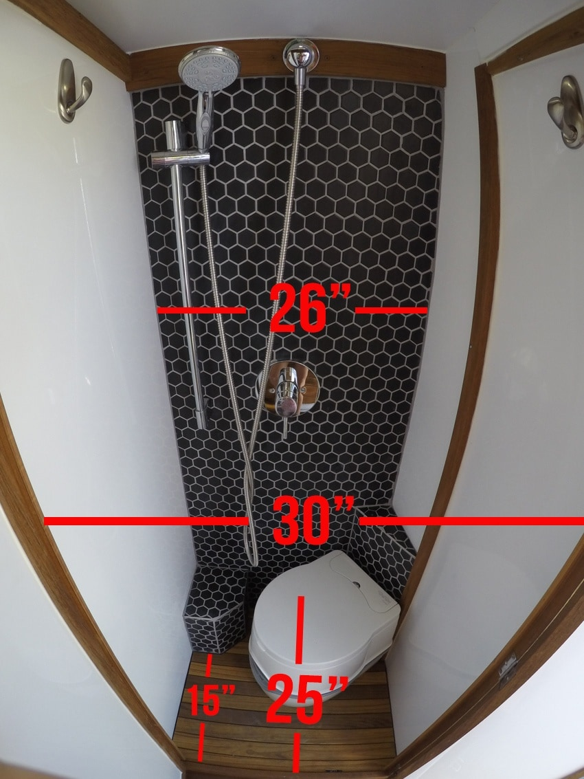 Sprinter Van bathroom dimensions