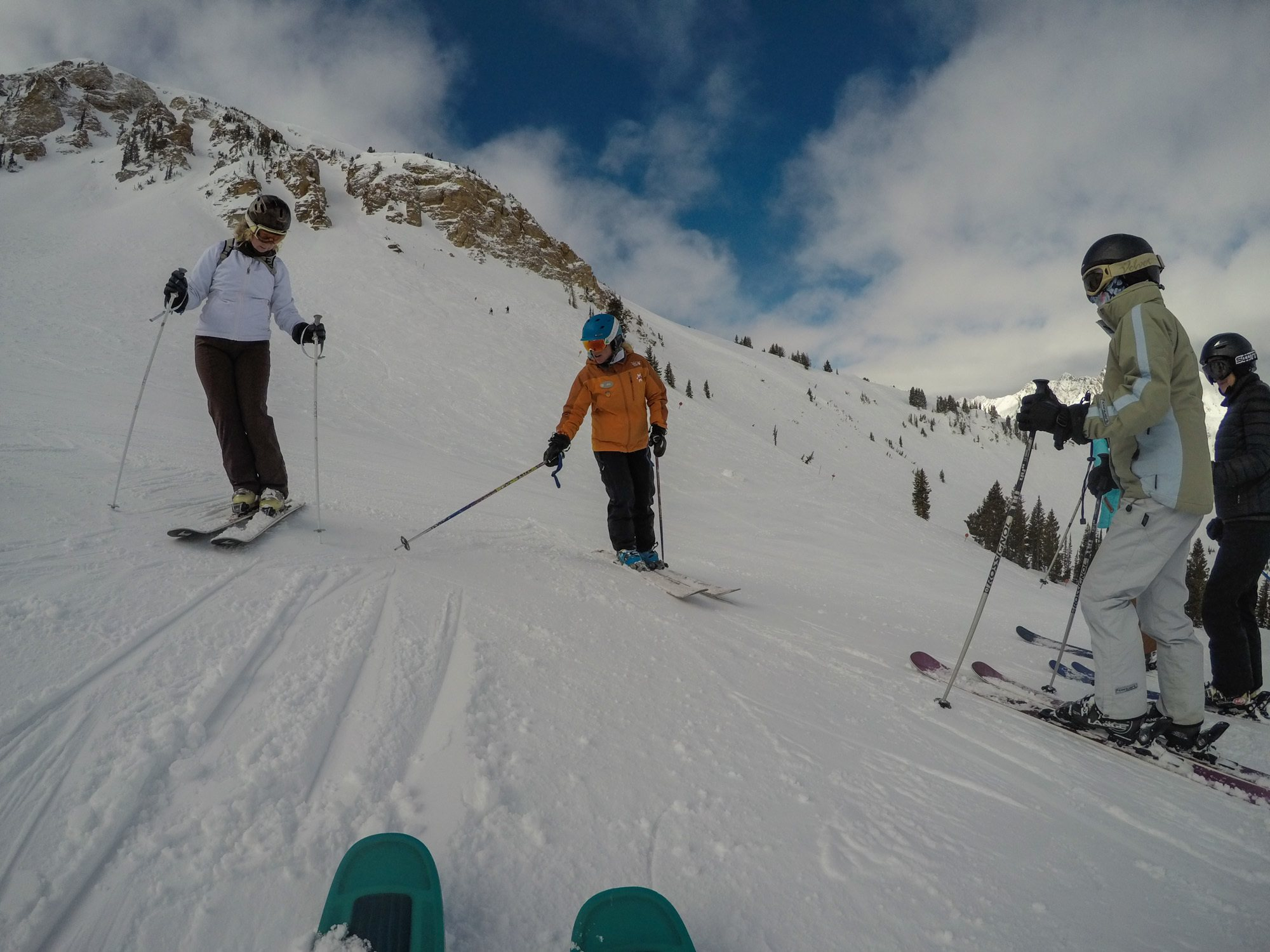 Want to improve your ski skills? The 3-day Alta Lodge Women's Ski Camp offers world-class instruction with a supportive group of females.