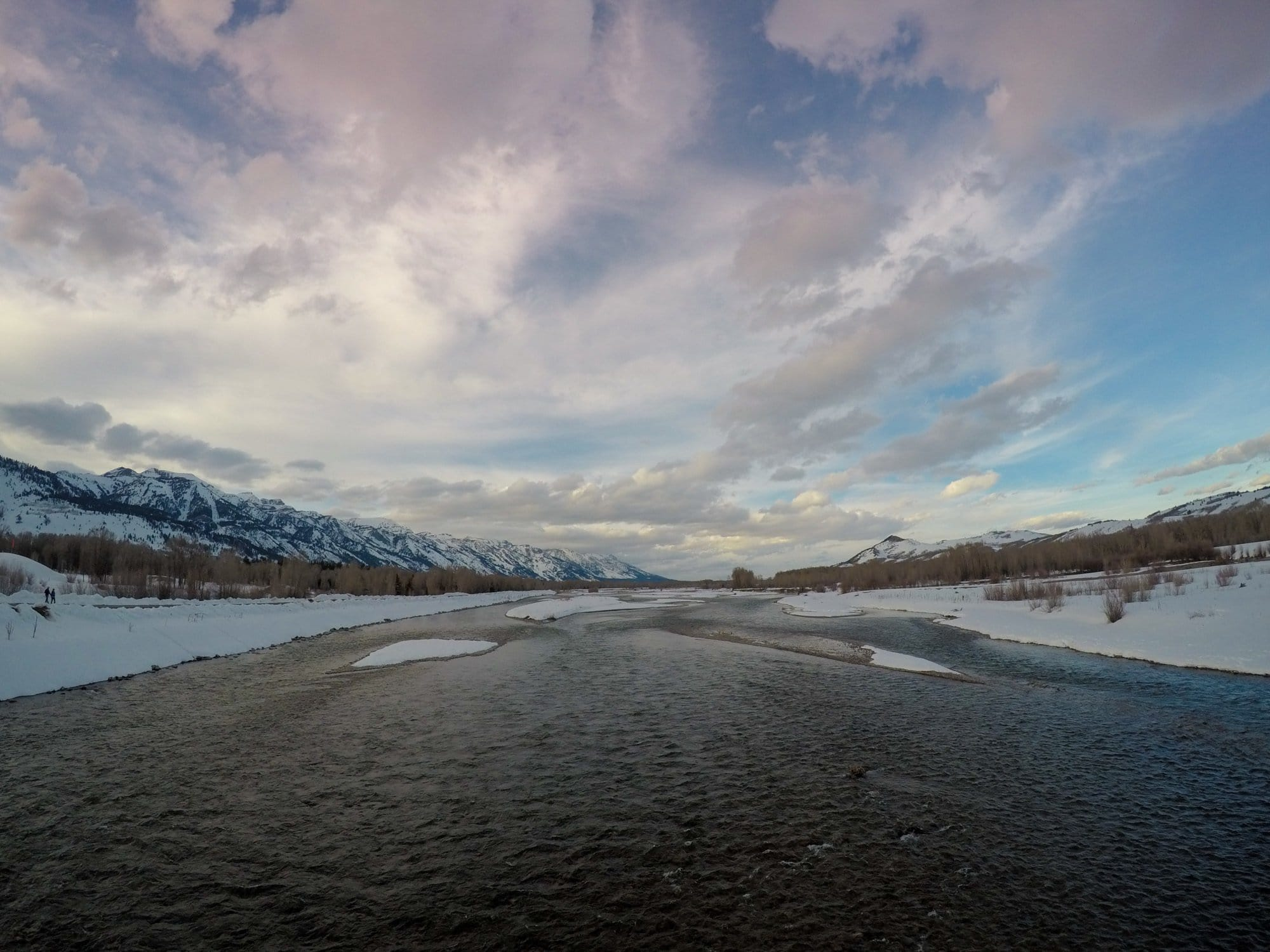 Bridge over the Snake River in Jackson, Wyoming