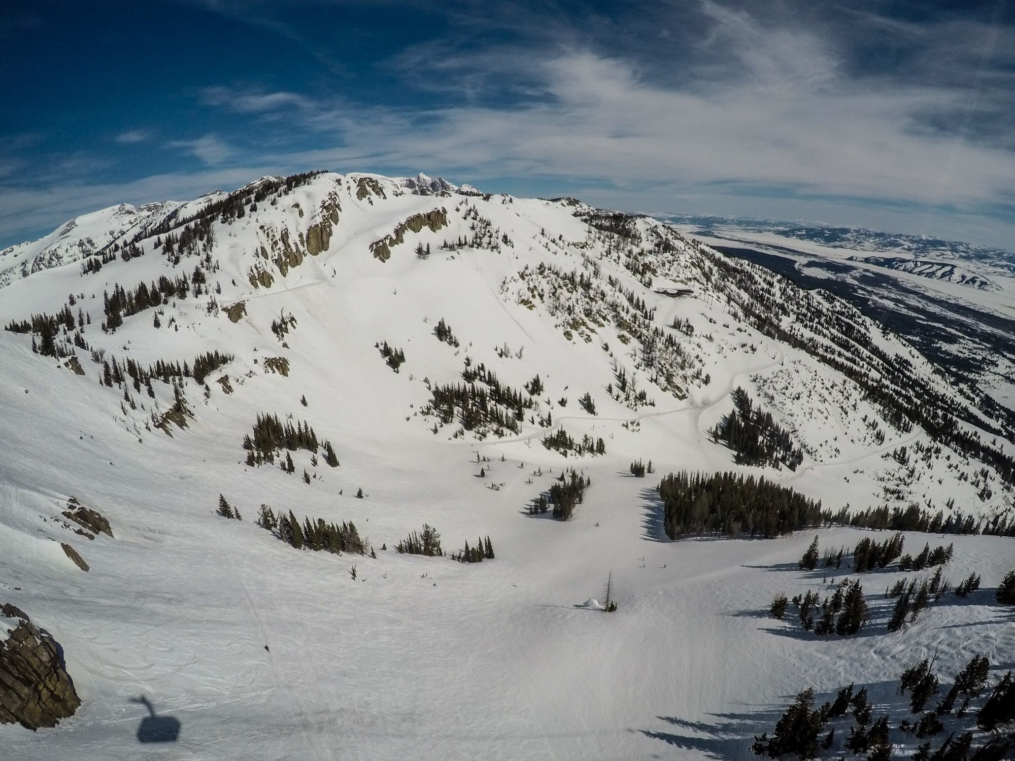Jackson Hole Mountain Resort in Wyoming // view from the Tram