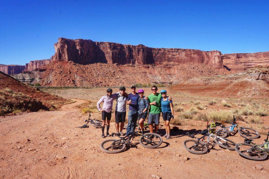 Biking the White Rim Trail in Canyonlands near Moab
