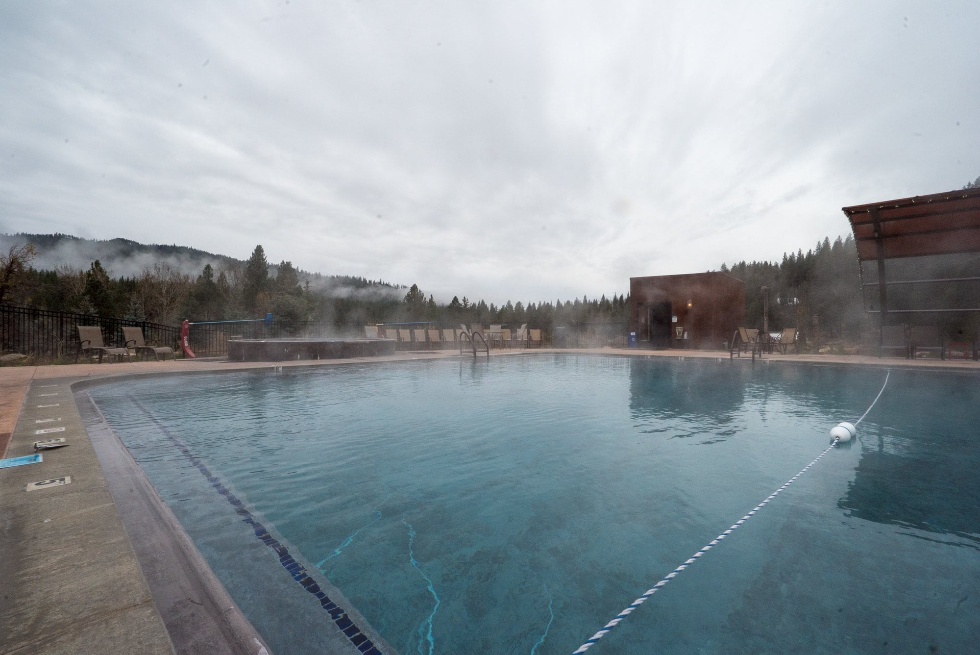 Soaking at The Springs in Idaho City