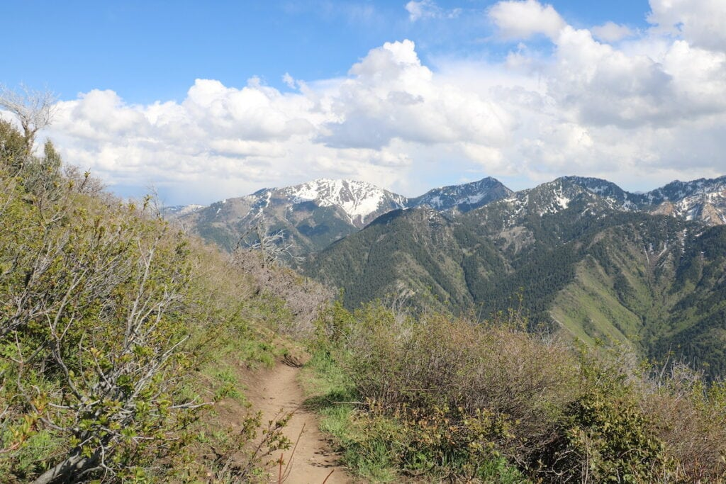 Grandeur Peak // Learn about 12 of the best Salt Lake City hikes from alpine lakes to peaks to waterfalls including trail stats and trailhead info.