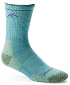 Darn Tough Micro Crew Cushion Hiking Socks // Interested in cold-weather hiking? Learn about base layers, shells, and other winter hiking clothes with our winter outdoor apparel guide.