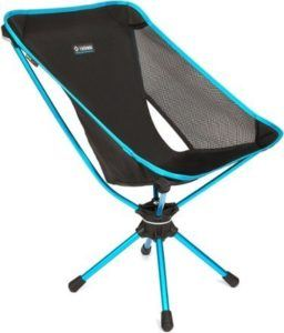 Helinox Swivel Chair // One of the best camping chairs that's lightweight and comfortable