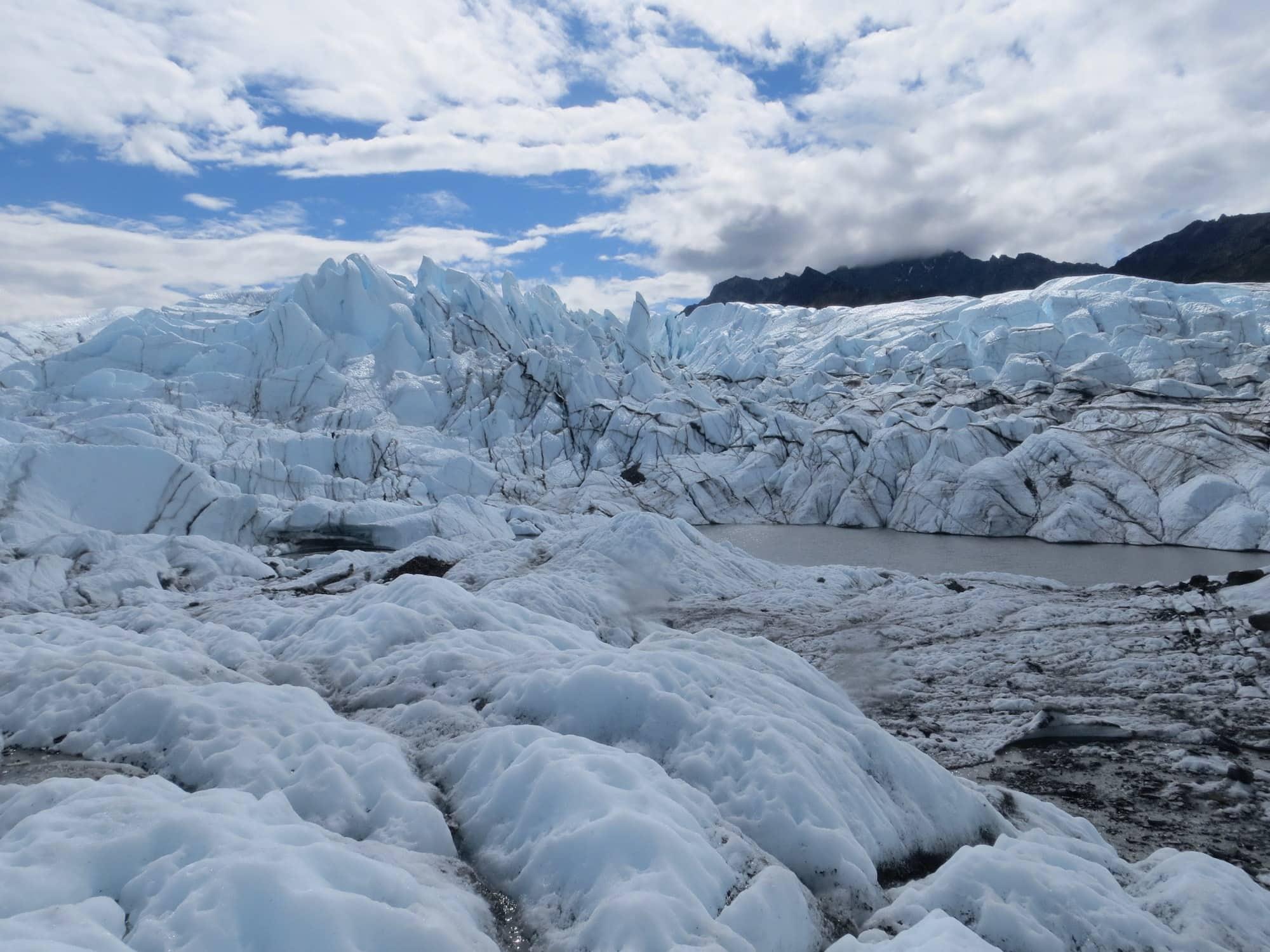 Matanuska Glacier // This Alaska road trip itinerary will take you through the best of the state including Kenai Fjords & Denali National Park.