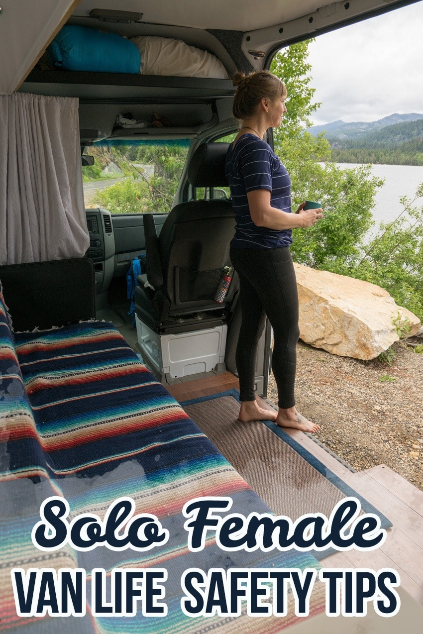 Preparing for a solo road trip? Be confident & prevent yourself from getting into a vulnerable situation with these solo female van life safety tips.