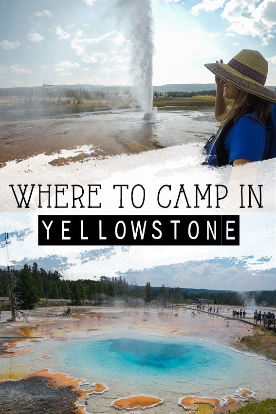 A guide to the 12 Yellowstone campgrounds & 9 lodging options available for your National Park vacation- from car camping to historic hotels.