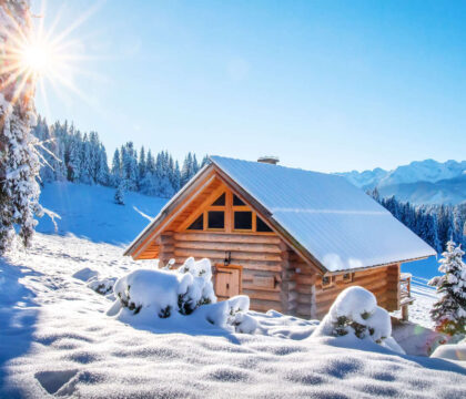 Plan an adventurous getaway to one of these winter backcountry huts that are accessible via snowshoeing, cross-country, or backcountry skiing