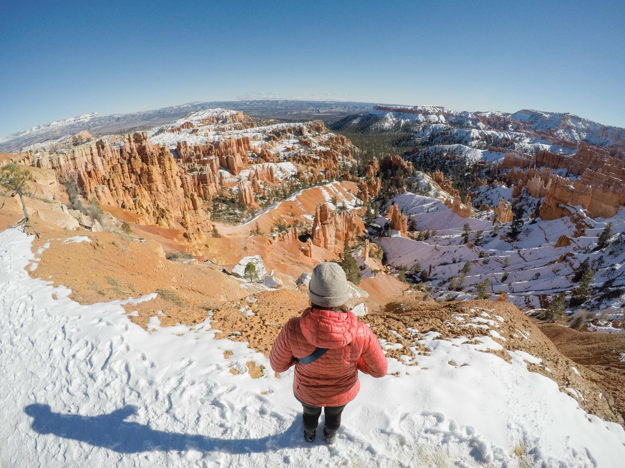 Bryce Canyon in winter // Explore Utah National Parks in this 10-day road trip itinerary w/ the best hikes, activities & camping in Zion, Bryce, Capitol Reef, Arches & Canyonlands.