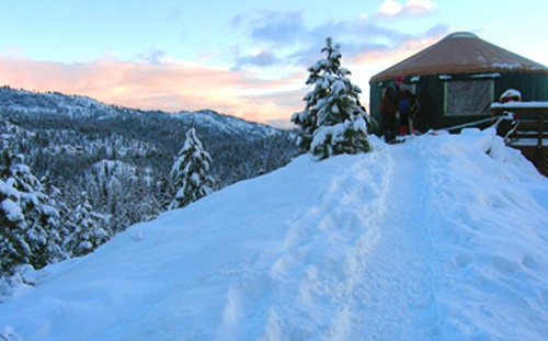Idaho City Backcountry Yurts / Plan a fun and cozy getaway to one of these winter backcountry huts that are accessible via snowshoeing, cross-country, or backcountry skiing.