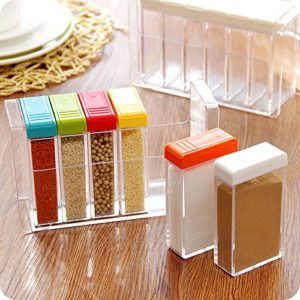 Love these compact spice drawers for camper van travel