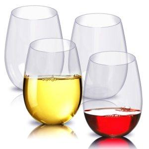 Plastic wine glasses are perfect for camper van travel