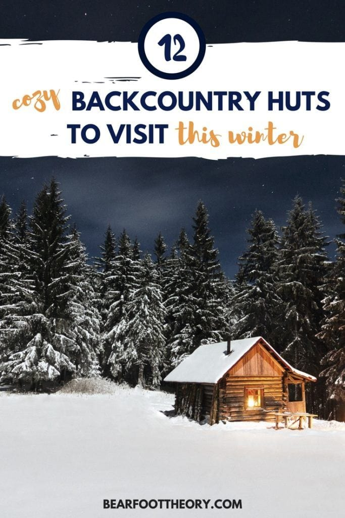 Plan a fun and cozy getaway to one of these winter backcountry huts or yurts that are accessible via snowshoeing, cross-country, or backcountry skiing.