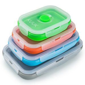 Collapsible tupperware saves space in your camper van kitchen drawers.