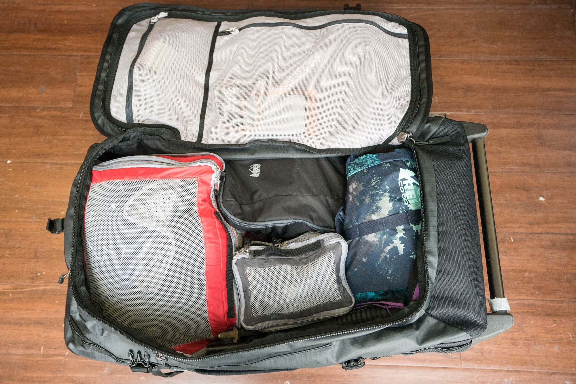 REI Big Haul Rolling Duffel // Read my gear review of the best travel bags by REI that offer durability, smart design and function, while being priced lower than competing outdoor brands.