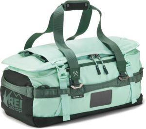 REI Co-op Big Haul duffel can also stand up to any adventures. It can be carried as a backpack or over the shoulder and has several pockets for easy organization.