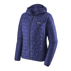 Patagonia Nano Puff Hoody // Interested in cold-weather hiking? Learn about base layers, shells, and other winter hiking clothes with our winter outdoor apparel guide.