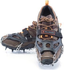 Hillsound Crampons // Learn our top winter hiking tips to keep you toasty and safe on cold and snowy trails, including advice on layering, snacks, staying hydrated & more.