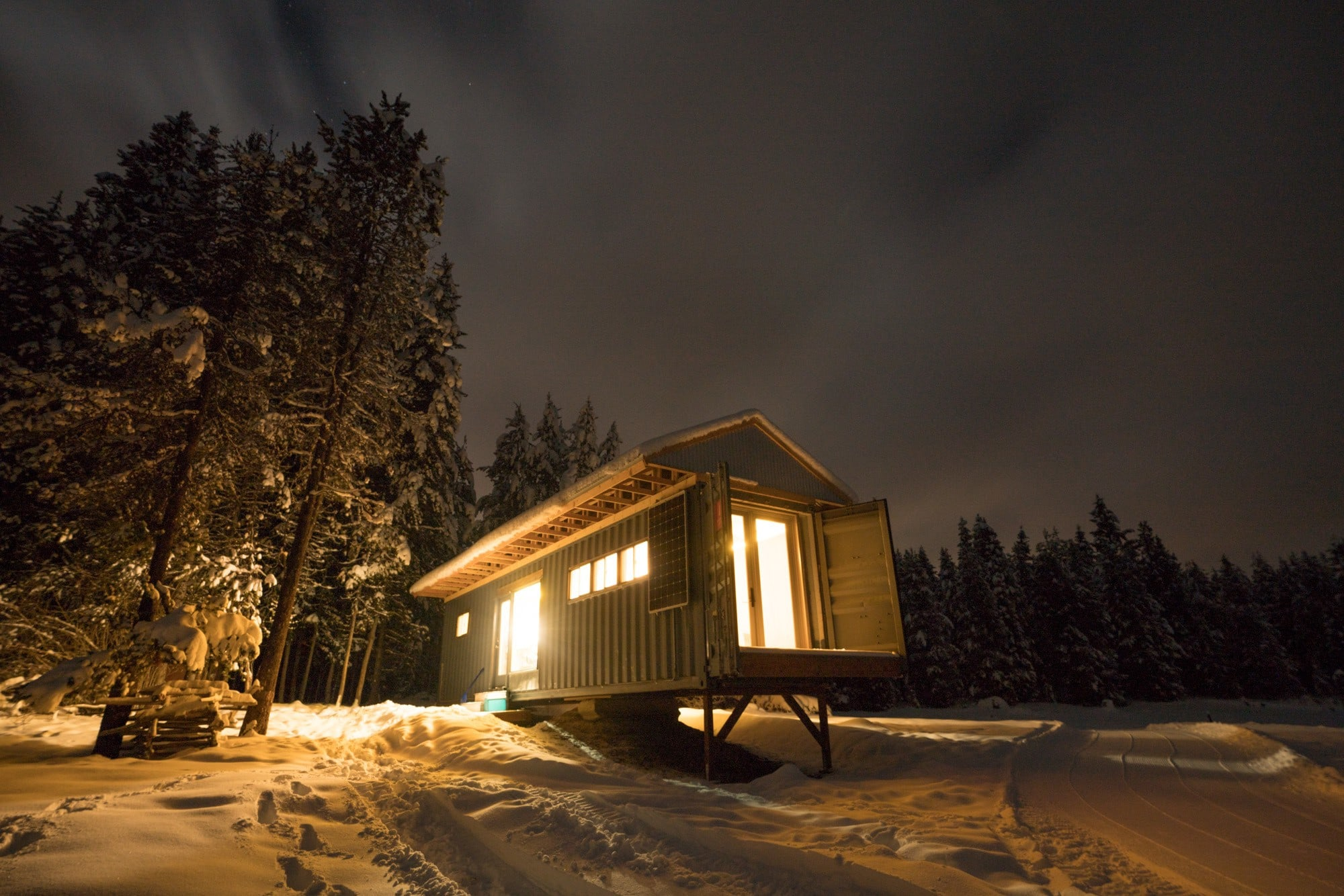 Alpine Cabin at Jug Mountain Ranch in McCall Idaho - a lakefront tiny house that you can rent year round.