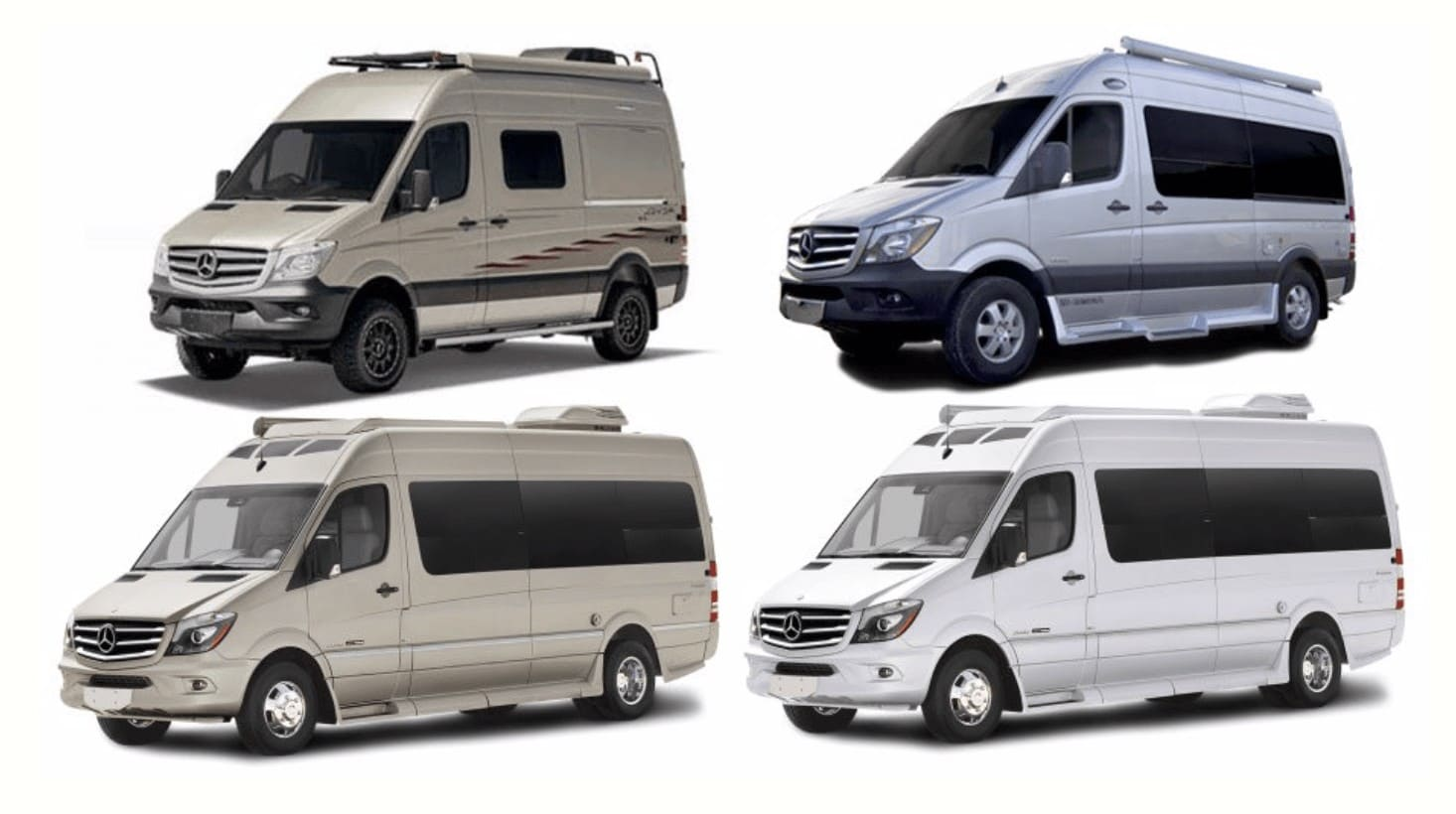 Mercedes Sprinter RV Rental // Rent an adventuremobile from one of these camper van rental companies & choose from Sprinters, Vanagons, Ford Transits, Sportsmobiles & more!