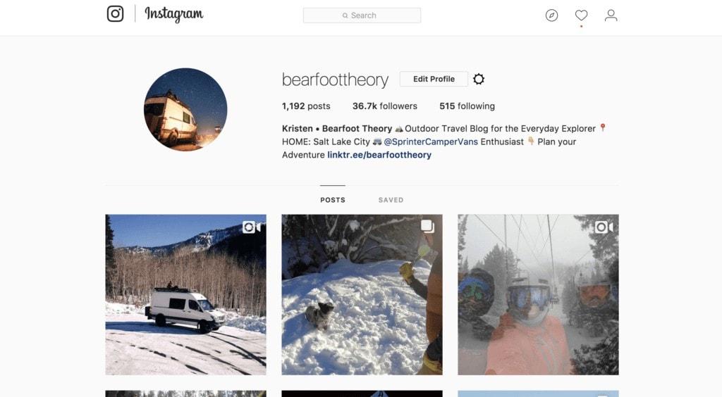Bearfoot Theory Instagram