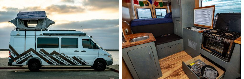 VanCraft Sprinter Rentals // Rent an adventure mobile from one of these camper van rental companies and choose from Sprinters, Vanagons, Transits, Sportsmobiles & more!