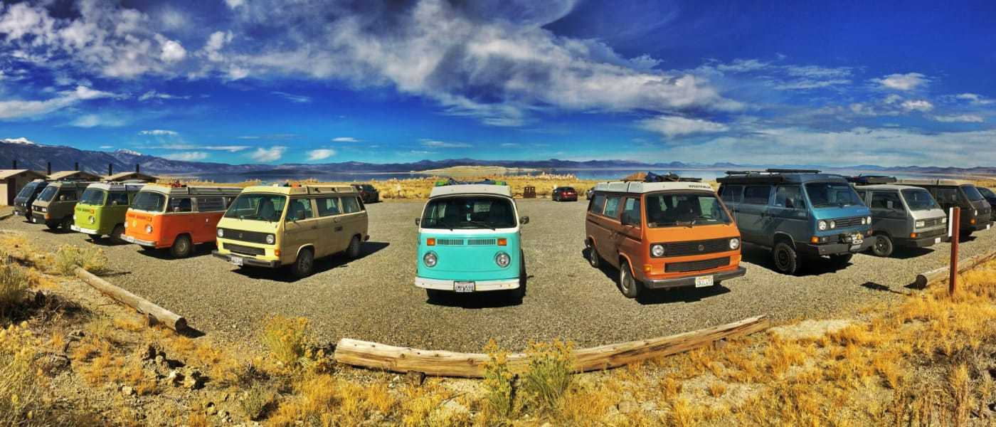 Vintage Surfari Wagons // Rent an adventure mobile from one of these camper van rental companies and choose from Sprinters, Vanagons, Ford Transits, Sportsmobiles & more!