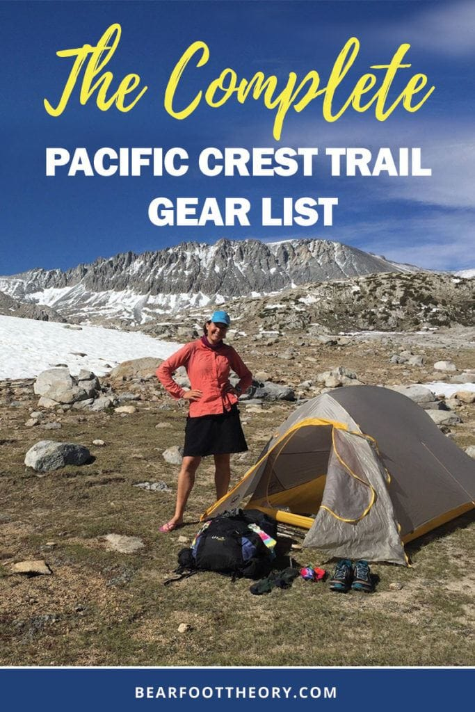 Planning a long-distance backpacking trip? Looking for lightweight backpacking gear recommendations? Start with this complete Pacific Crest Trail gear list that includes every single item I packed for a 5-month thru-hike from Mexico to Canada.