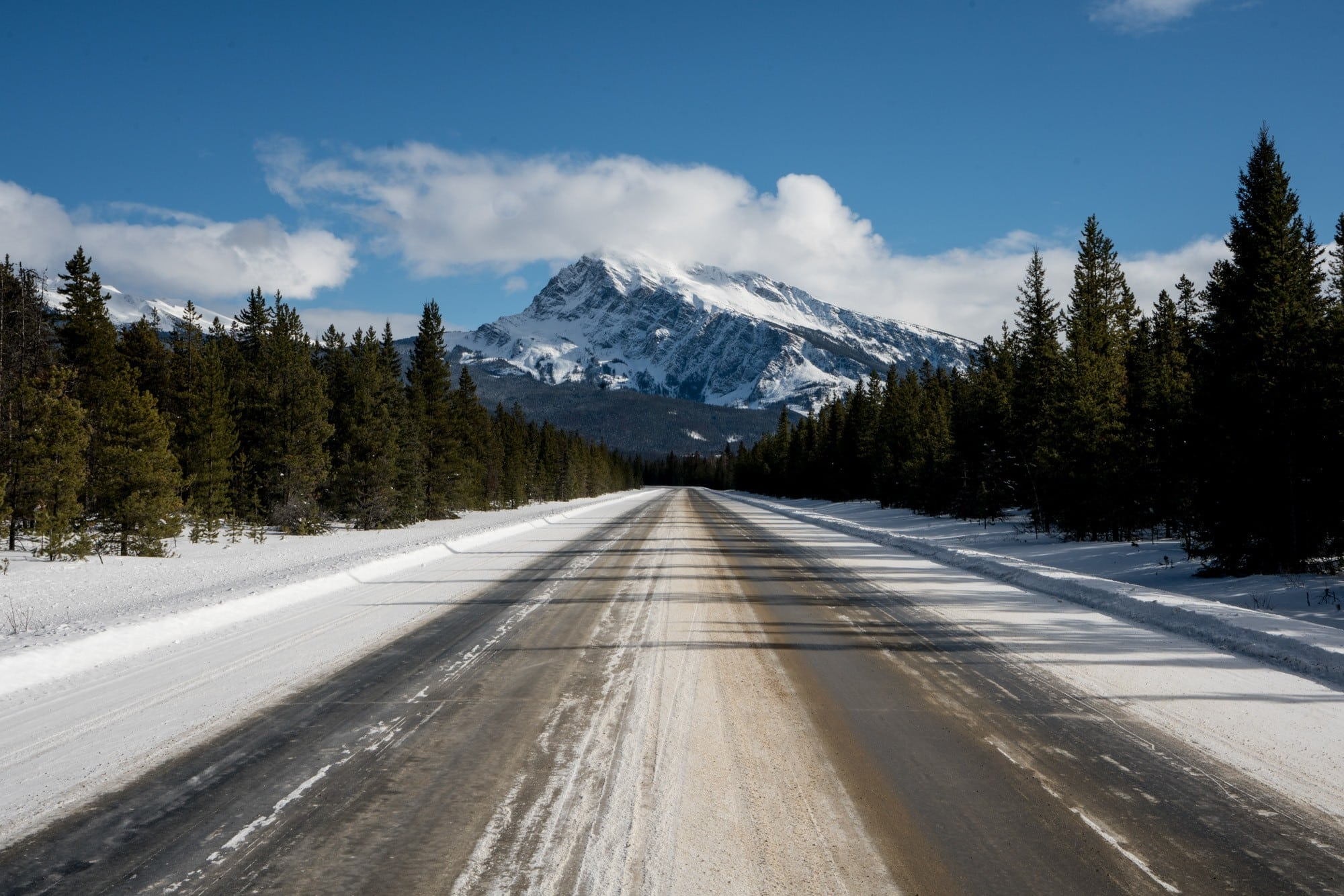 The Icefields Parkway in Jasper National Park