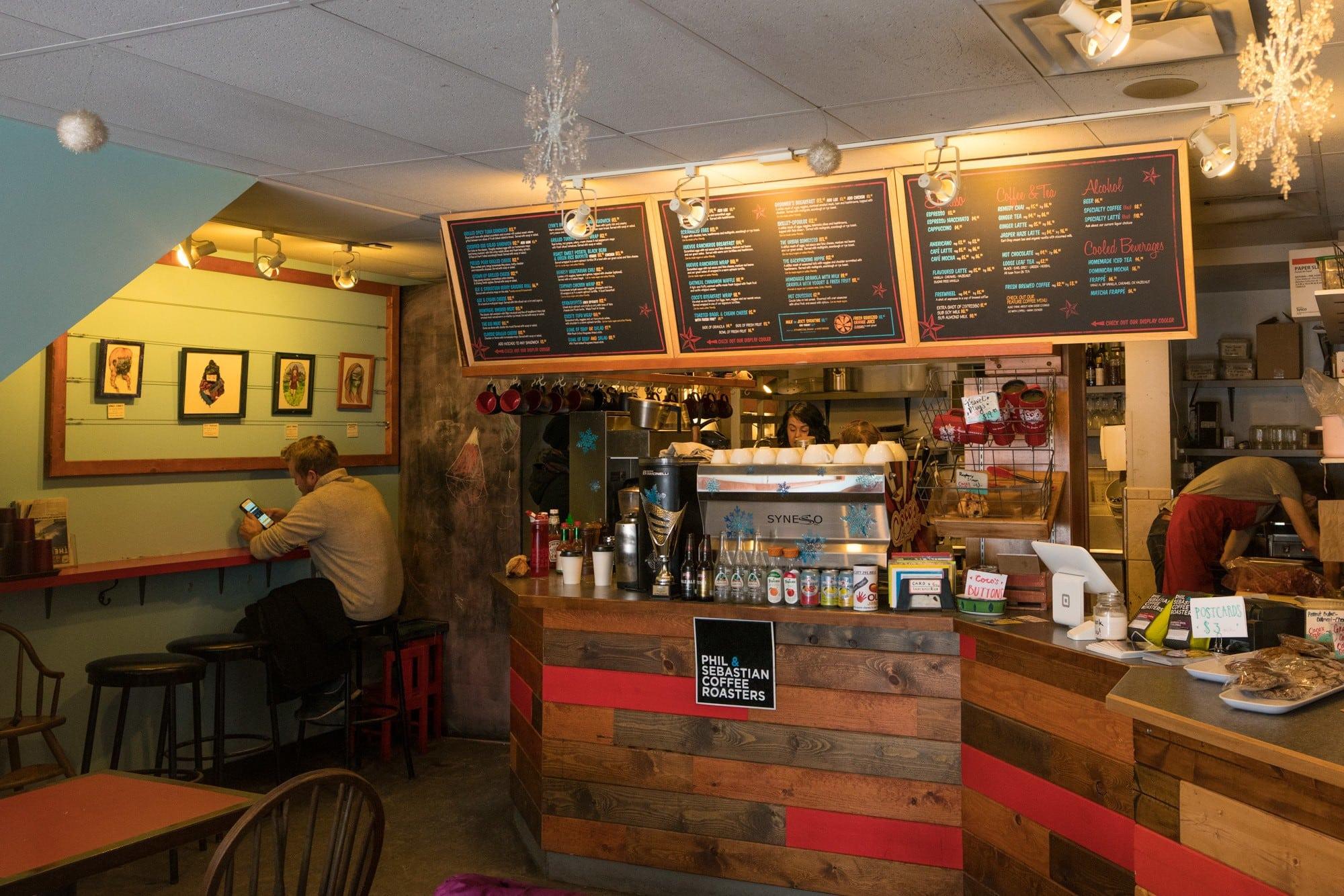 Coco's Cafe, Jasper Alberta