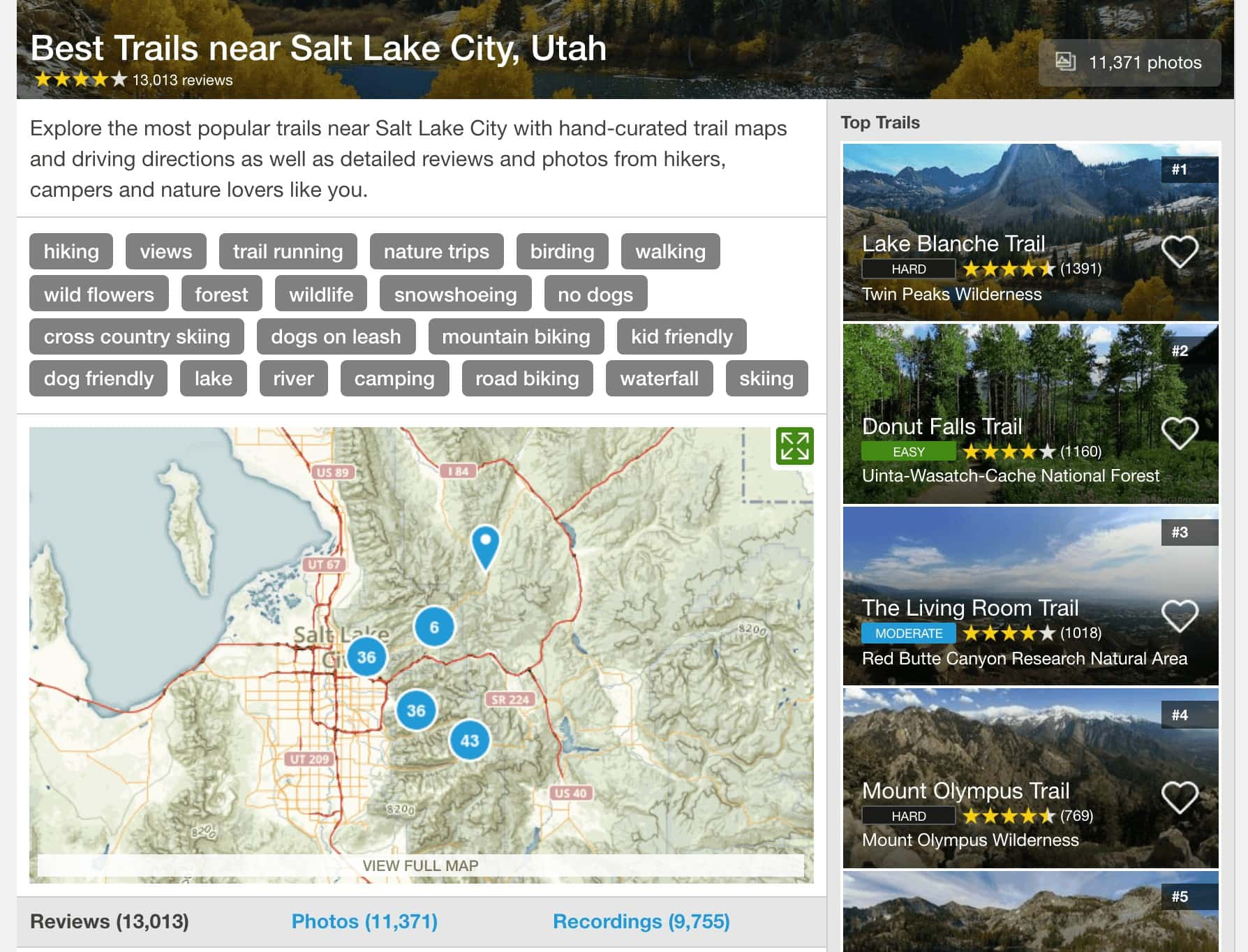 AllTrails / One of the best hiking apps and one of our favorite apps for finding local hiking trails