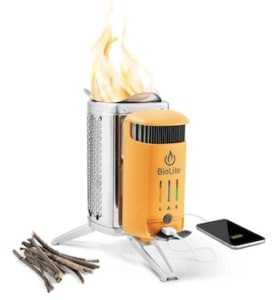 Biolite Camp Stove is one of the best wood burning alternative camp stoves