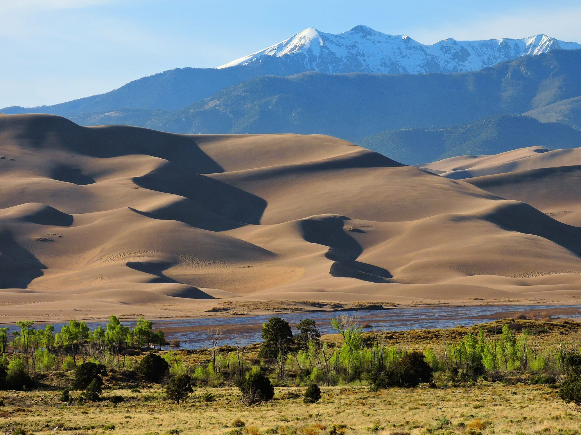 Great Sand Dunes National Park // Here is a list of the most dog-friendly National Parks, along with info on trails and campgrounds where pets are permitted.