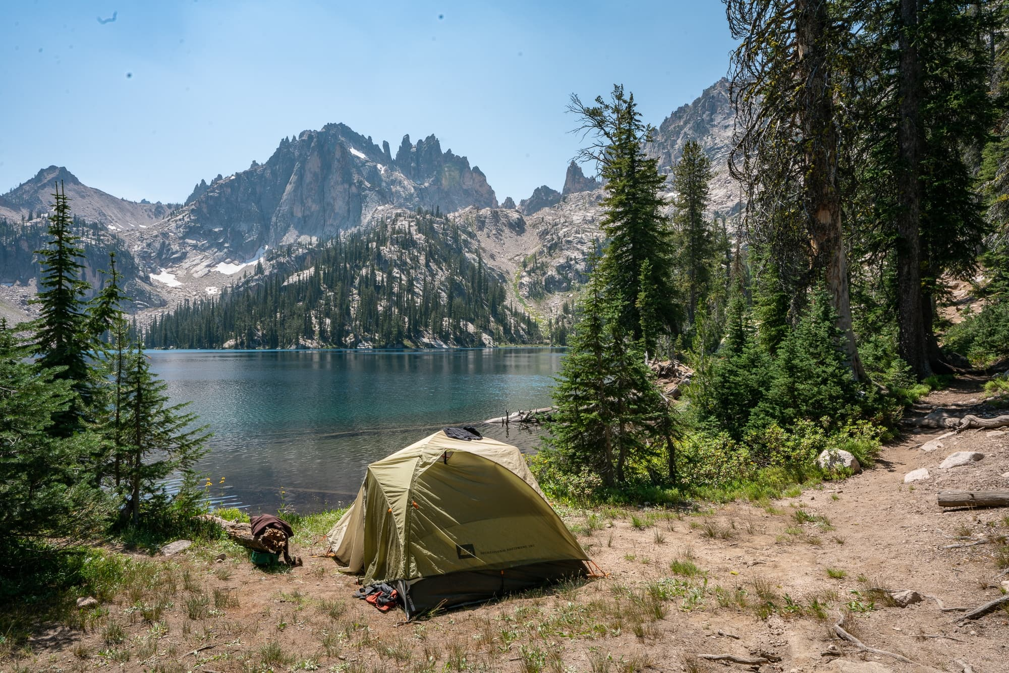 This campsite is ILLEGAL and violates all Leave No Trace guidelines. Learn what to look for in a campsite that follows Leave No Trace and obeys regulations.