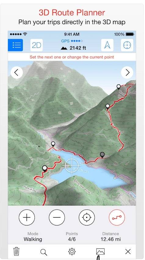 Maps 3D Pro Trail App / One of the best hiking apps