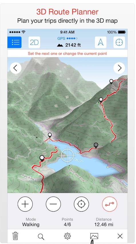 Maps 3D Pro Trail App