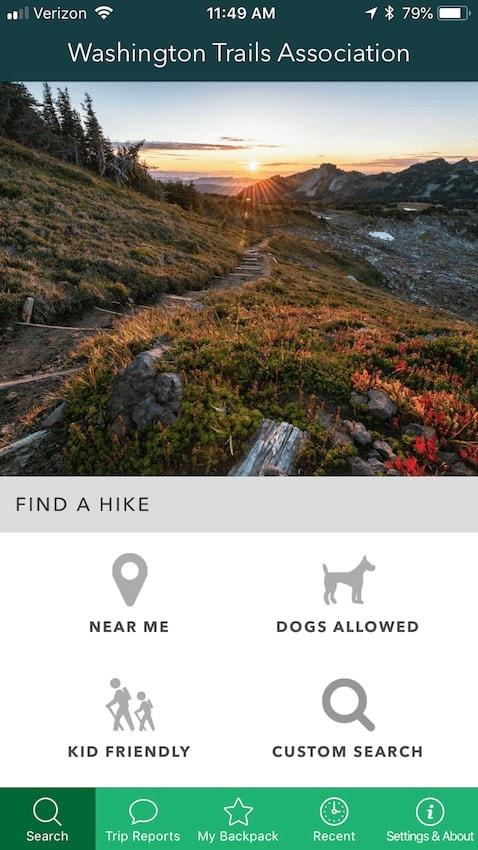 Washington Trails Association Trailblazer App // One of the best trail finder apps