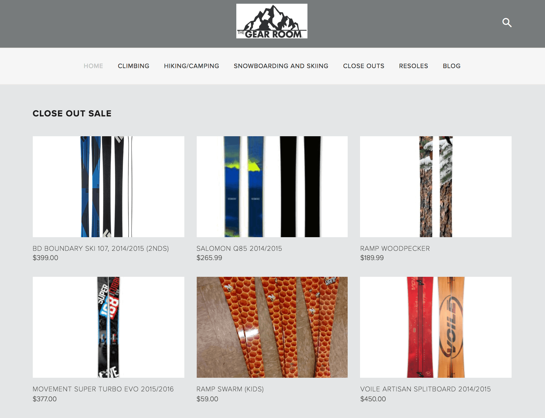 The Gear Room is a great place to find discounted outdoor gear online