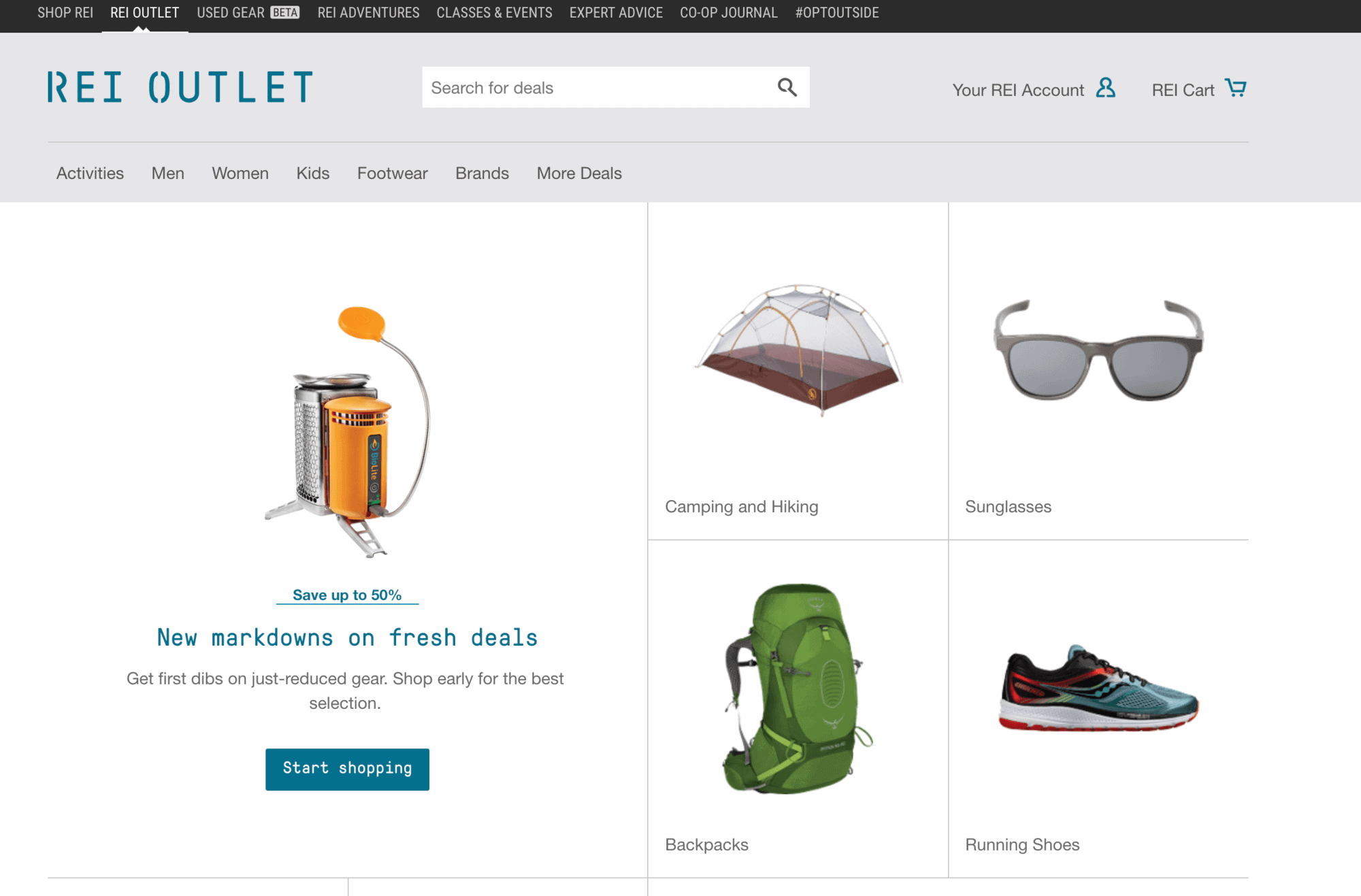 REI Outlet - discounted outdoor gear