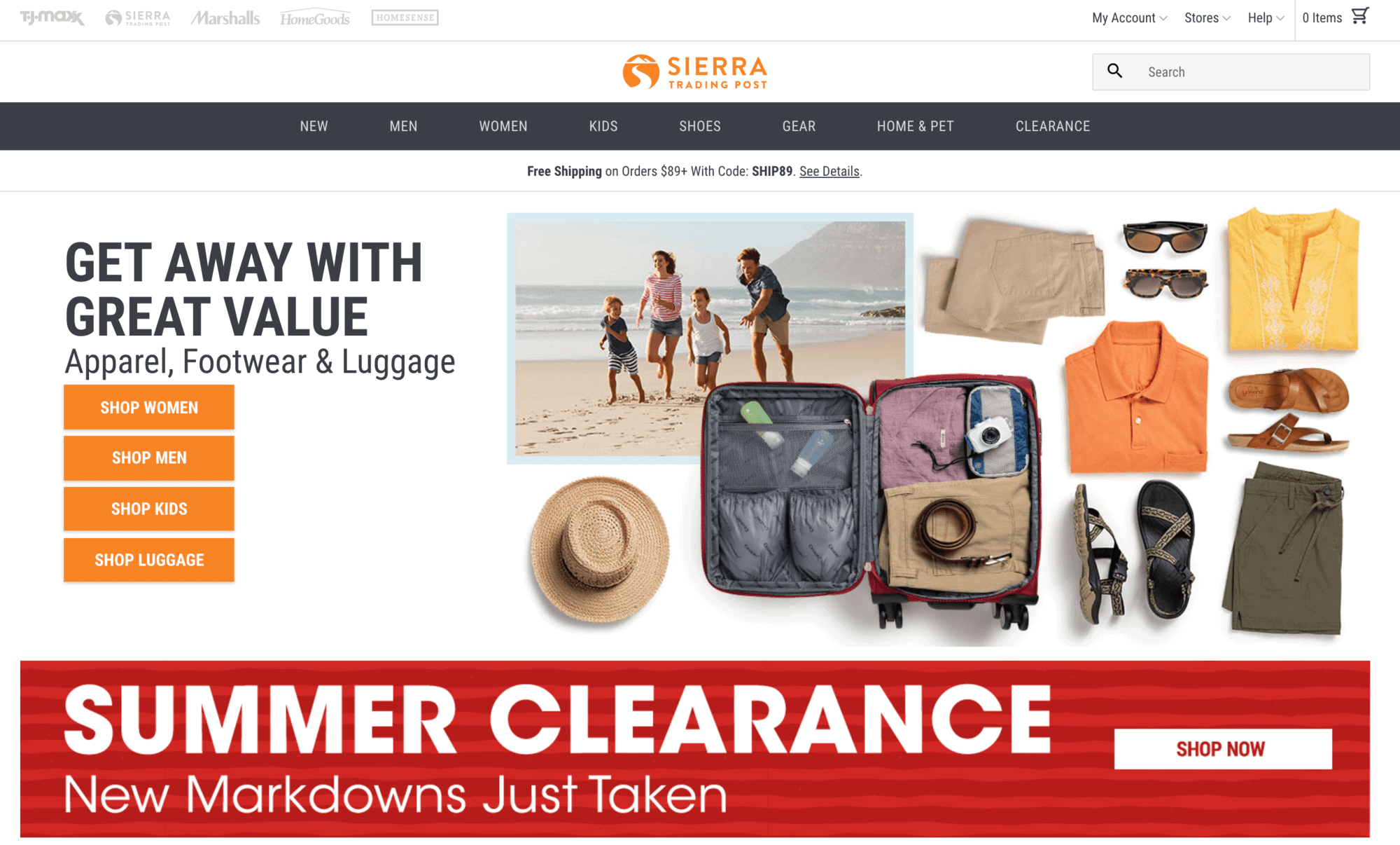 Sierra Trading Post is a great option for finding discounted outdoor gear online
